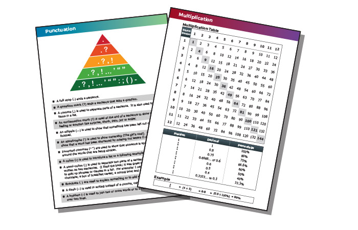 24-page full colour literacy and numeracy section