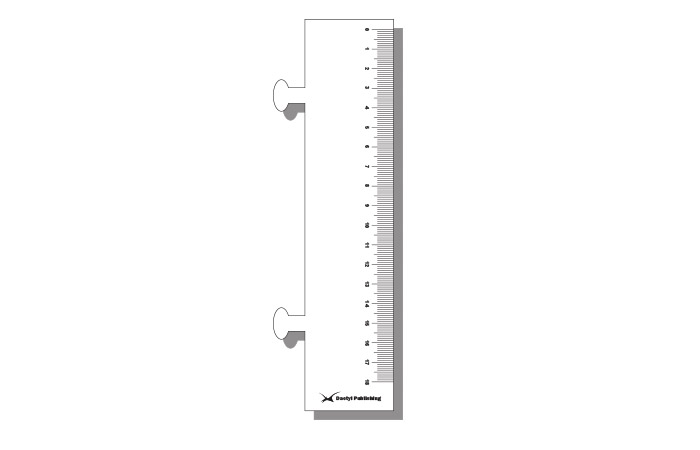 Clip-in polypropylene 18cm ruler